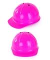 Roze bouwhelm voor kinderen