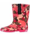 Roze camouflage meiden regenlaarzen
