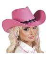 Roze cowboyhoed wichita voor dames