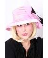 Roze dames hoed met strik