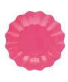 Roze diepe bordjes 21 cm