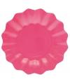 Roze diepe bordjes 27 cm