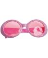 Roze disco bril met glitters