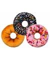 Roze donut kussen met spikkels 40 cm