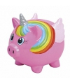 Roze eenhoorn spaarpot 15 cm