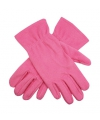 Roze fleece handschoenen