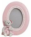 Roze fotolijst beer 11 x 14 cm