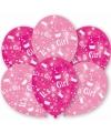 Roze geboorte ballonnen meisje 6 stuks