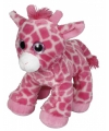 Roze giraffe knuffel 22 cm