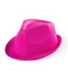 Roze gleufhoedje voor kinderen
