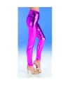 Roze glimmende legging voor dames