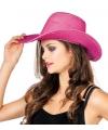 Roze glitter cowboyhoed met pailletten