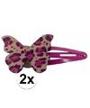 Roze haarspeldjes houten vlinder