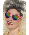 Roze hartjes bril voor volwassenen