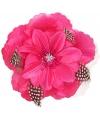 Roze hawaii bloem met veertjes