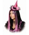 Roze heksenhoedje met haarband