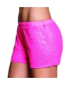 Roze hotpants met pailletten