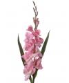 Roze kunst gladiool 102 cm