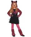 Roze luipaard jurkje voor meisjes