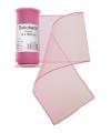 Roze organza stof op rol 12 x 300 cm