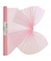 Roze organza stof op rol 40 x 200 cm
