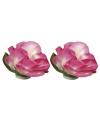 Roze papieren bloemetjes 1 5 cm