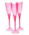 Roze plastic champagne glazen 5 stuks