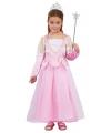 Roze prinsessenjurk met pailletten