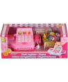 Roze speelgoed kassa met boodschappen