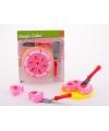 Roze speelgoed taart