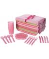 Roze vlinder picknick set vier personen