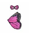 Roze vlinder verkleedset voor meisjes