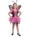 Roze vlinderjurkje voor meisjes