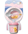 Roze winnie de poeh baby servies