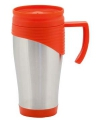 Rvs thermosbeker rood 400 ml