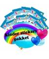 Safari thema kinder stickers pakket