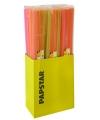 Sangria rietjes neon kleuren lang 100 cm100 st