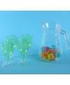 Sangria set met vier groene glazen