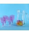 Sangria set met vier roze glazen