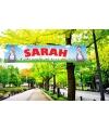 Sarah pvc spandoek 200 x 50 cm