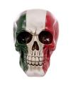 Schedel italiaanse vlag opdruk