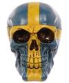 Schedel zweedse vlag opdruk