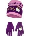 Schoenkadootjes paarse hello kitty winterset