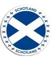 Schotland sticker rond 14 8 cm