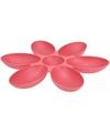 Serveerschaal bloem koraal