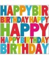 Servetten happy birthday 20 stuks