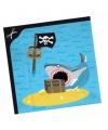 Servetten piraten eiland 20x