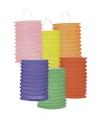 Set van 12 gekleurde lampionnen