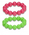 Set van neon parel armbanden