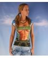 Sexy dames t shirt alpen